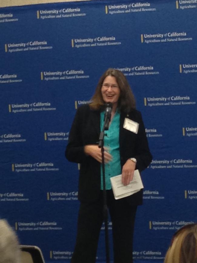 VP Allen-Diaz welcomes CDFA Secretary Karen Ross, Mayor Joe Krovoza and other guests to UC ANR's new LEED-certified office building.