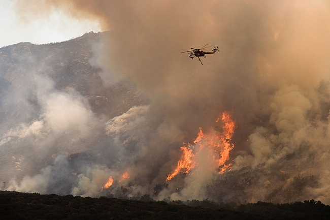 Dry, hot summertime climate means its fire weather in California.