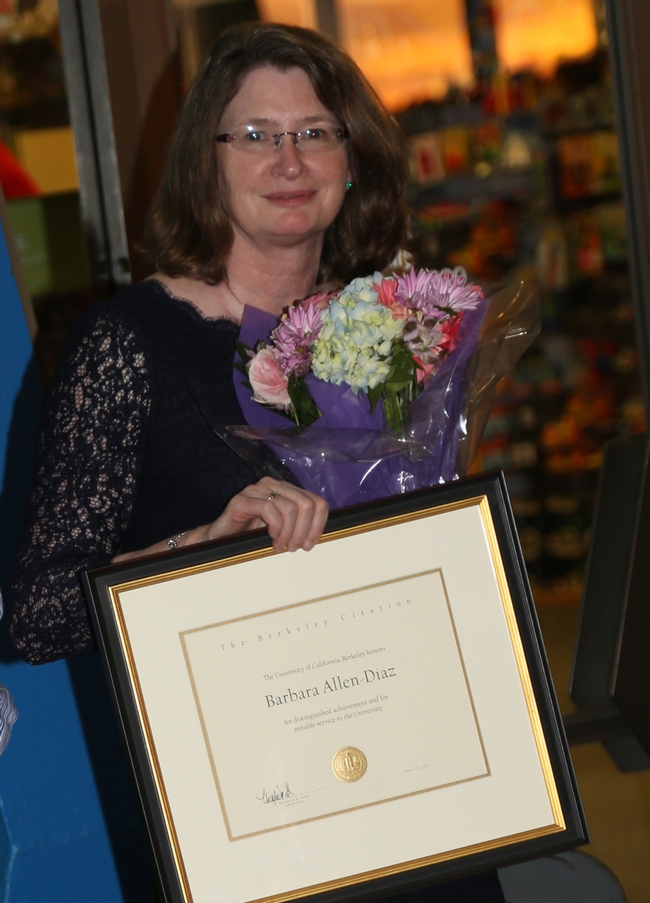Barbara Allen-Diaz receives Berkeley Citation.