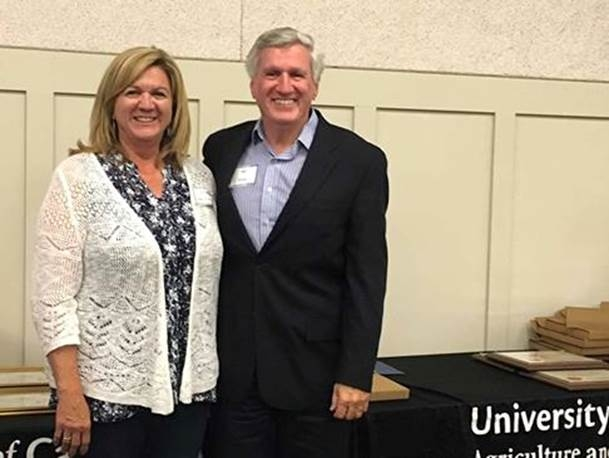 Cherie McDougald, left, and her brother Bill Frost retired with more than 77 years of UC service between them.