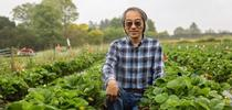 Joji Muramoto is the first UC Cooperative Extension specialist dedicated to organic agriculture. Photo by Carolyn Lagattuta for ANR news releases Blog