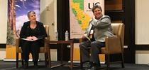 President Janet Napolitano, left, sat down with VP Humiston at UC ANR's statewide conference in 2018 to discuss UC ANR's role in advancing UC's Global Food, Carbon Neutrality and Mexico initiatives. for ANR news releases Blog