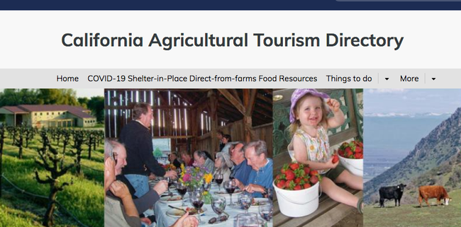The UC Agritourism Directory offers links to farms and ranches that offer box deliveries, farm stands, online ordering, delivery and pickup services by region.