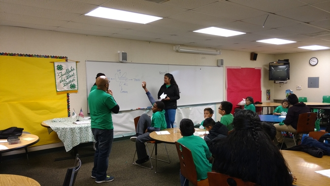 Diego Mariscal with an after-school 4-H group in Santa Rosa