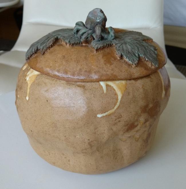 Ceramic pumpkin mande by Monterey Master Gardener Liz Burns