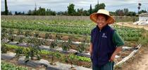 Michael shows me a diversified farm for ANR Adventures Blog