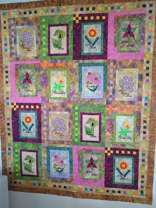 Quilt for the Master Gardener auction