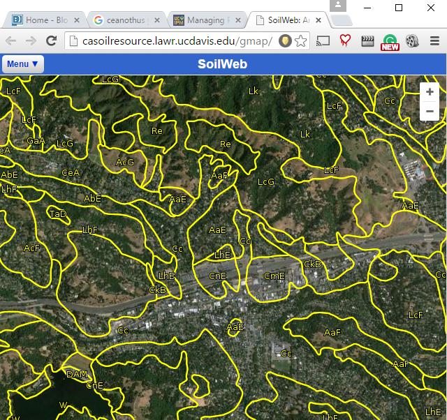 SoilWeb Map for Lafayette
