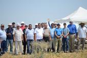 Uzbek visitors tour the UC CASI NRI Project field in Five Points, CA