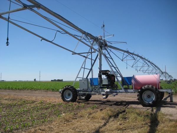 Nebraska leads the nation in implementation of overhead irrigation technologies. Research is continuing to ensure the most efficient use of these systems.