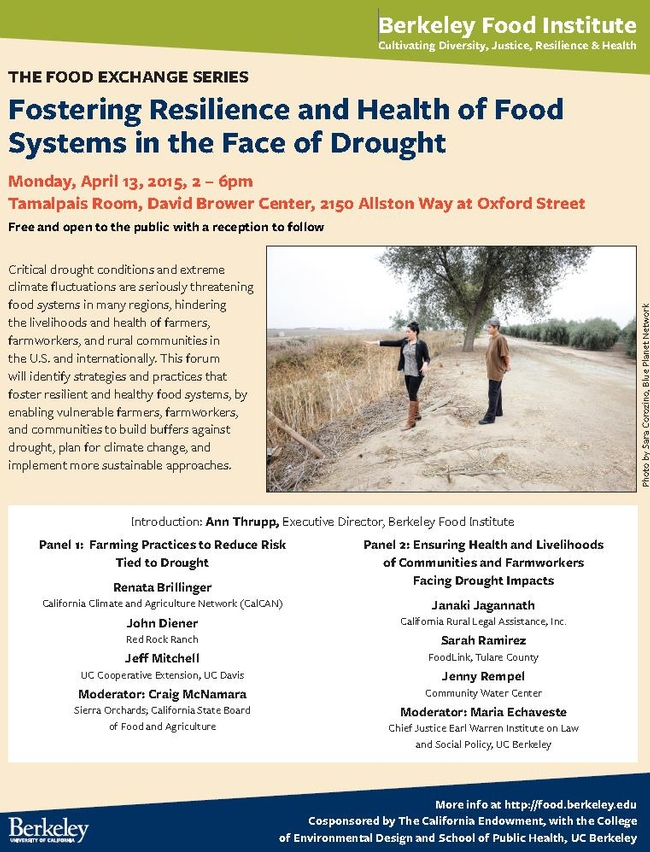 The Food Exchange Flyer of meeting held on April 13.