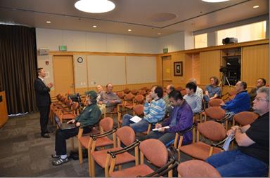 Dr. Li Hongwen giving presentation