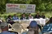 MOU Signing Ceremony in Winters, CA for the California Farm Demonstration Network.