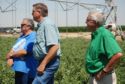 Representatives from CISCO AG, Senninger Irrigation Co and Reinke Irrigation Co at the field day.