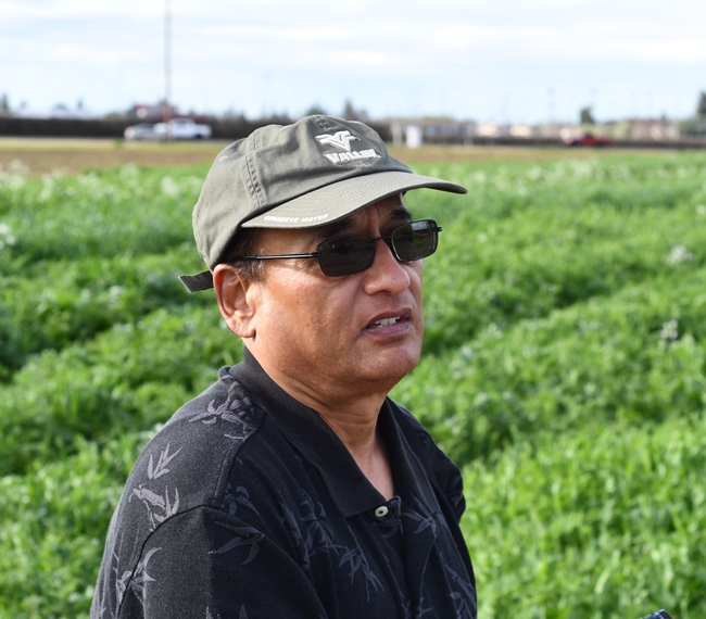 CIG Project's Anil Shrestha of Fresno State contemplating and planning the public open house he's holding this spring to showcase diverse, multi-species cover crop mixes