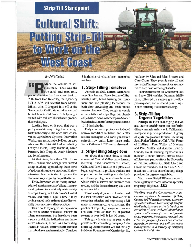 Article about CA strip-tillage innovations that appeared in the Summer 2019 issue of Strip-till Farmer magazine