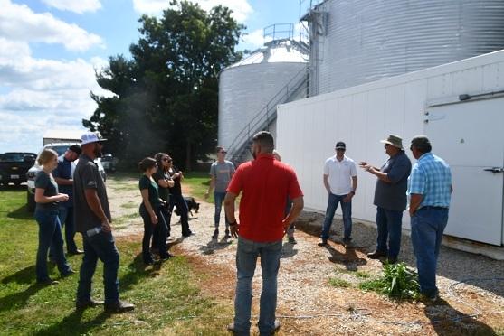 CASI's Bottens hosts CA visitors at his farm in Sherrard, IL