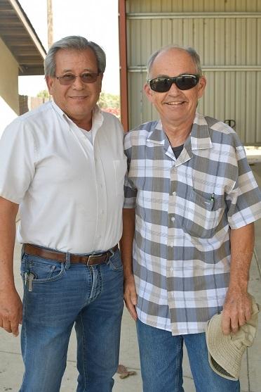 Jesse Sanchez (left) of Sano Farms in Firebaugh, CA hosting Rick Reed