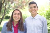 4-H Teen Leaders Fiona Reyes and Santiago Piva