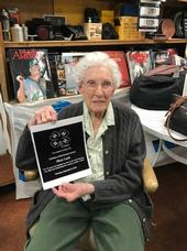 Mary Lash pictured with her Lifetime Achievement award from Los Angeles County 4-H