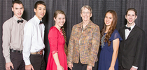 From left to right: Zachary S, Jesiah N, Tara Schnetz {coach}, Dr. Francine Bradley Ph.D. Extension Poultry Specialist Emerita, Hannah N, and Kyle S for California 4-H Grown Blog