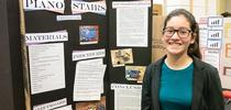 Amanda Cantwell at the science fair for California 4-H Grown Blog