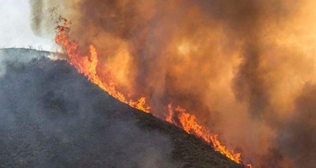 Detwiler fire on the ridge