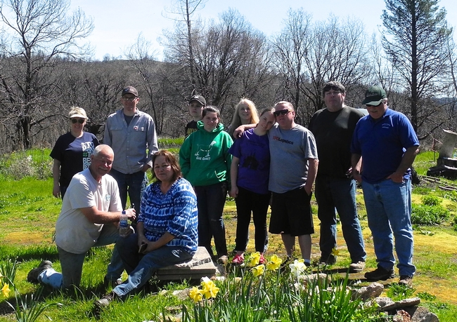 Feather Falls residents, Butte County 4-H members and family, and SPI foresters gather for a group photo at tree planting event on March 31, 2019 in Ponderosa Fire Area, Feather Falls, CA. for California 4-H Grown Blog