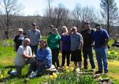 Feather Falls residents, Butte County 4-H members and family, and SPI foresters gather for a group photo at tree planting event on March 31, 2019 in Ponderosa Fire Area, Feather Falls, CA.