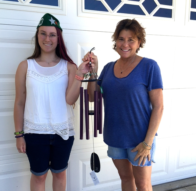Each wind chime was personally delivered by 4-H members or the nominators