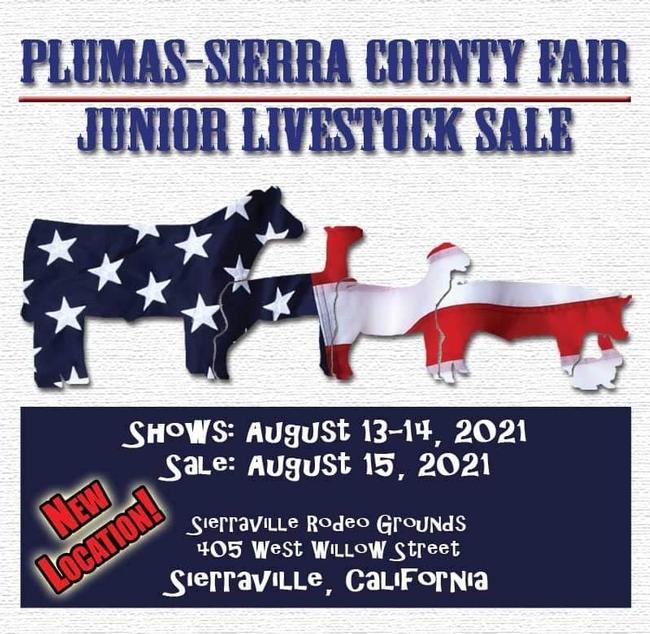 flyer for Plumas-Sierra junior livestock auction