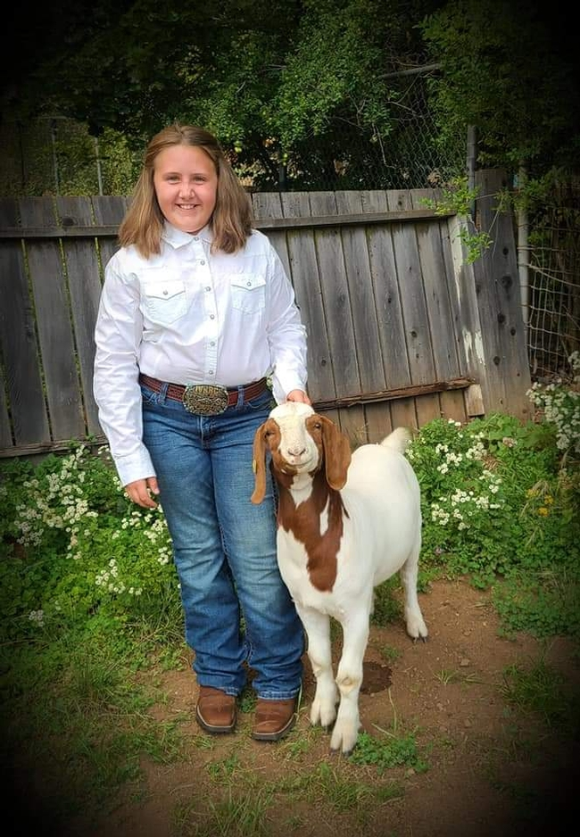 Jewell with Boer goat Forrest G. (2nd year)