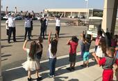 Student teachers lead the physical activity during Week 5