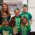 Author Kiera Butler poses at a book store in Corte Madera with 4-H members.