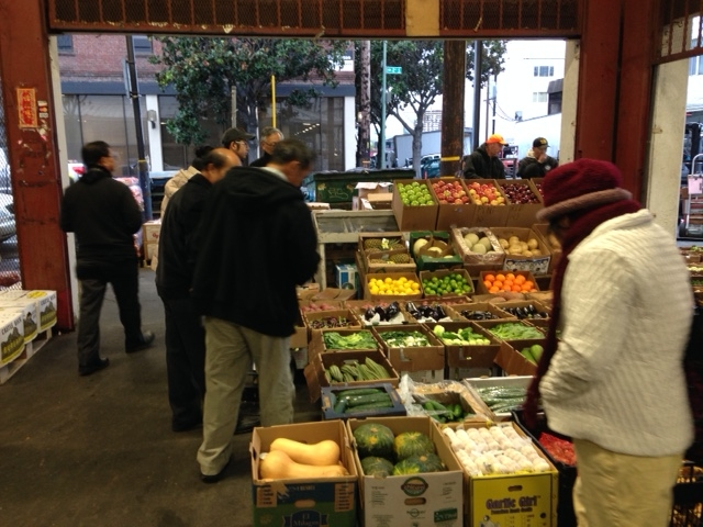 Fresno farmers visited Pacific Rim Produce, which buys from small farmers, mostly within 250 miles of Oakland.