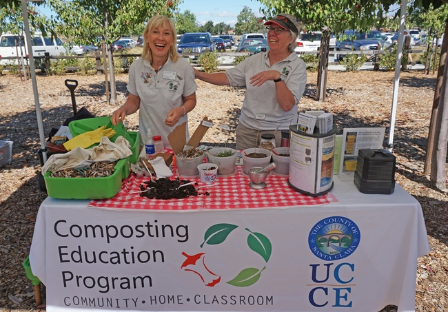 UCCE certified master composters encourage Santa Clara County residents to turn their green and food waste into a rich garden amendment.