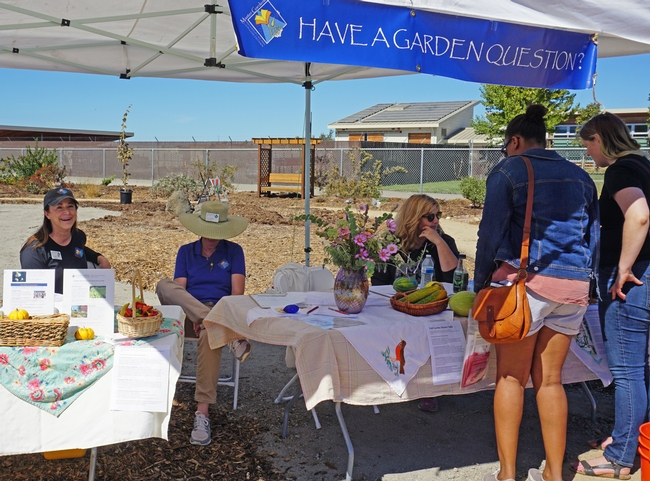 UC Master Gardener volunteers answered garden questions in their four-acre demonstration garden.