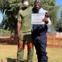 The new Los Naturalistas received certificates upon completing the program.