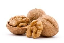 Image of walnut shell and kernel.