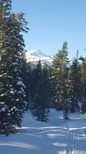 Pyramid Peak in snowy glory, New Year's Eve 2015.