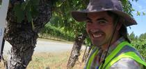 Marcelo Bustamante is seeking microbial biocontrol agents to thwart grapevine canker disease. for Foothill Fodder Blog