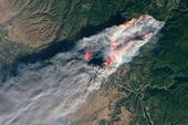 The Camp Fire in Butte County on Nov. 8, 2018. (Photo: NASA)