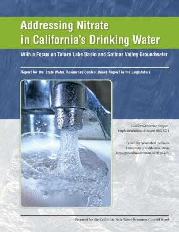 "Cover of ""Addressing Nitrate in California's Drinking Water"""