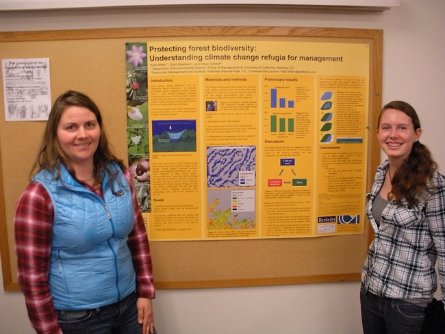 Kate Wilkins and Maura at the Stephens Fire Lab. (Photo: Kim Ingram)