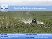 Title screen from Pesticide Resistance online course