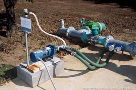 A metered injection pump is one tool used by farmers to apply nitrogen precisely.