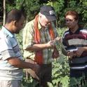 Barlow helps Bangladeshi growers identify pest problems