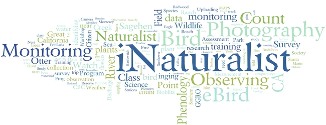 California Naturalists contribute to a variety of citizen science projects.