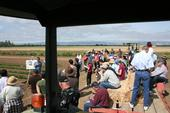 A researcher speaks at the 2015 Russell Field Day. (Photo: Agricultural Sustainability Institute)