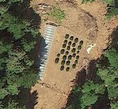 Google Earth Image of a cannabis grow site. The resolution of Google Earth images allowed the researchers to detect marijuana plants that were previously missed with other remote sensing techniques.